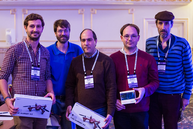 ApacheCon survey awards winners, sponsored by Red Had, together with Rich Bowen (ASF VP)