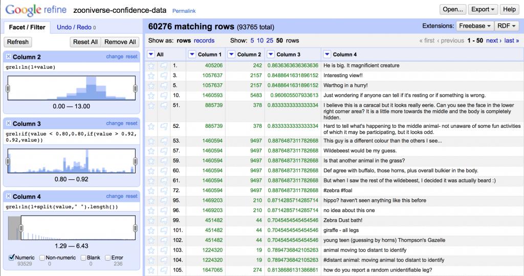 Google Refine Screen 1