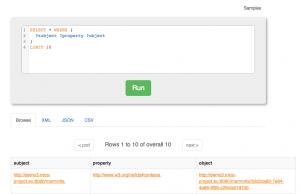Marmotta SPARQL query UI (enabled by Squebi)